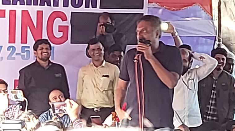 Prakash Raj, Prakash Raj on CAA, CAA protests, Citizenship Amendment Act, CAA protests Hyderabad, Prakash Raj CAA protests, Hyderabad news, city news, Indian Express