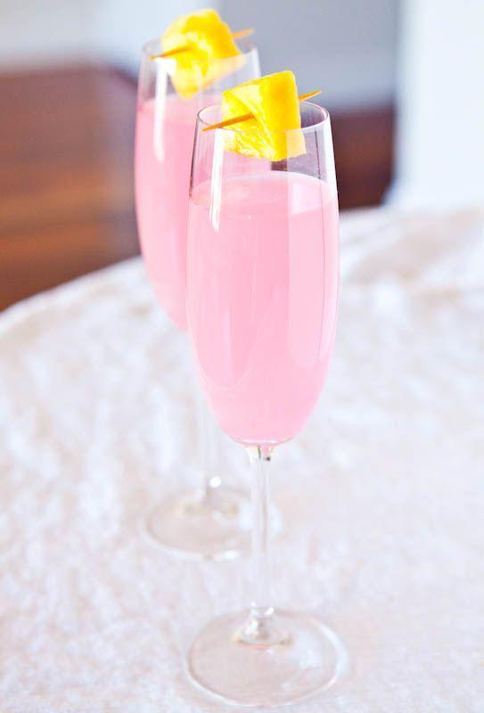 """<p>Coconut water gives this pretty in pink cocktail a healthy twist. </p><p>Get the recipe from <a href=""""http://www.averiecooks.com/2012/04/coconut-water-champagne-fruit-punch.html"""" rel=""""nofollow noopener"""" target=""""_blank"""" data-ylk=""""slk:Averie Cooks"""" class=""""link rapid-noclick-resp"""">Averie Cooks</a>.</p>"""