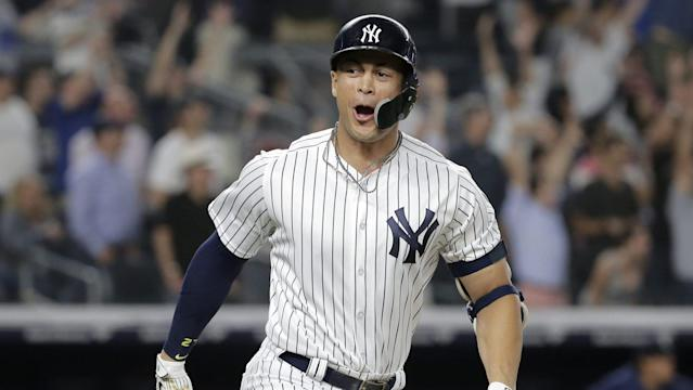 "Giancarlo launched a walkoff homer . . . and 1,000 ""now he's a TRUE Yankee!"" columns."