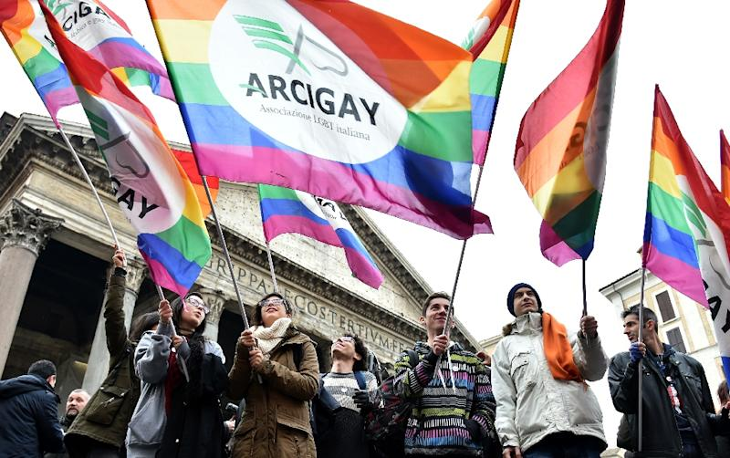 Italy is the only major Western European country not to have enacted legislation allowing gay couples to have their relationships legally recognised and protected (AFP Photo/Alberto Pizzoli)