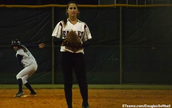 Marjory Stoneman Douglas softball starting pitcher Hayley Reinfeld