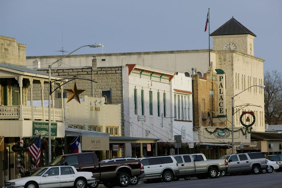 """<p>This <a href=""""http://www.visitfredericksburgtx.com/"""" rel=""""nofollow noopener"""" target=""""_blank"""" data-ylk=""""slk:Texas Hill Country town"""" class=""""link rapid-noclick-resp"""">Texas Hill Country town</a> is home to an eclectic arts community — and plenty of small businesses with local character. There's a big antique mall (<a href=""""http://www.visitfredericksburgtx.com/shopping/retailer/red-baron-antique-mall/"""" rel=""""nofollow noopener"""" target=""""_blank"""" data-ylk=""""slk:Red Baron Antique Mall"""" class=""""link rapid-noclick-resp"""">Red Baron Antique Mall</a>), but there's also a shop with finer finds (<a href=""""http://www.larryjacksonantiques.com/"""" rel=""""nofollow noopener"""" target=""""_blank"""" data-ylk=""""slk:Larry Jackson Fine Art & Antiques"""" class=""""link rapid-noclick-resp"""">Larry Jackson Fine Art & Antiques</a>). </p>"""