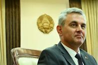 """President of Transnistria Vadim Krasnoselsky has hailed Sheriff's role as a """"reliable partner"""" which invests and creates jobs (AFP/Sergei GAPON)"""