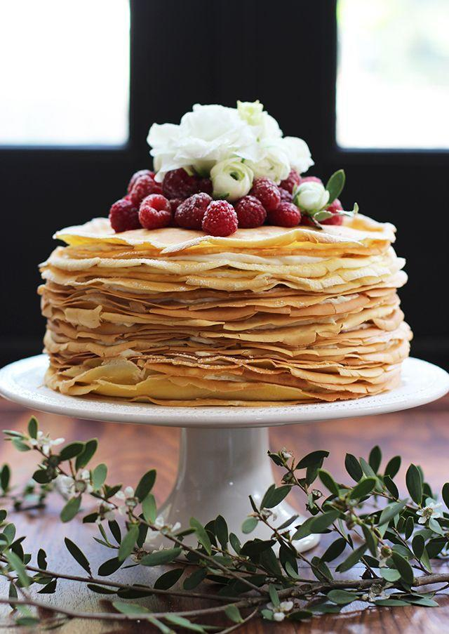 """<p>Serve this crepe cake for Mom at her <a href=""""https://www.countryliving.com/food-drinks/g1173/mothers-day-brunch/"""" rel=""""nofollow noopener"""" target=""""_blank"""" data-ylk=""""slk:Mother's Day brunch"""" class=""""link rapid-noclick-resp"""">Mother's Day brunch</a>. We guarantee she'll be impressed.</p><p><strong>Get the recipe at <a href=""""http://honestlyyum.com/9800/crepe-cake/"""" rel=""""nofollow noopener"""" target=""""_blank"""" data-ylk=""""slk:Honestly Yum"""" class=""""link rapid-noclick-resp"""">Honestly Yum</a>.</strong> </p>"""
