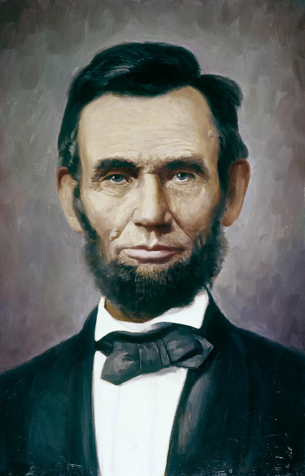 PAINTING ABRAHAM LINCOLN.