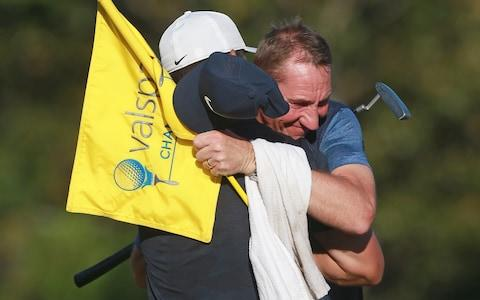 Paul Casey and caddie John McLaren -  - Credit: GETTY IMAGES