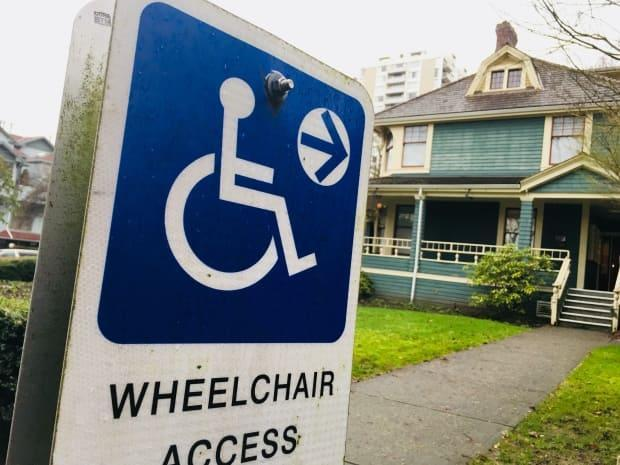 Kentville's plan includes improved ramps for town hall and accessible parking spots that are clearly marked and the proper size. (David Horemans/CBC - image credit)