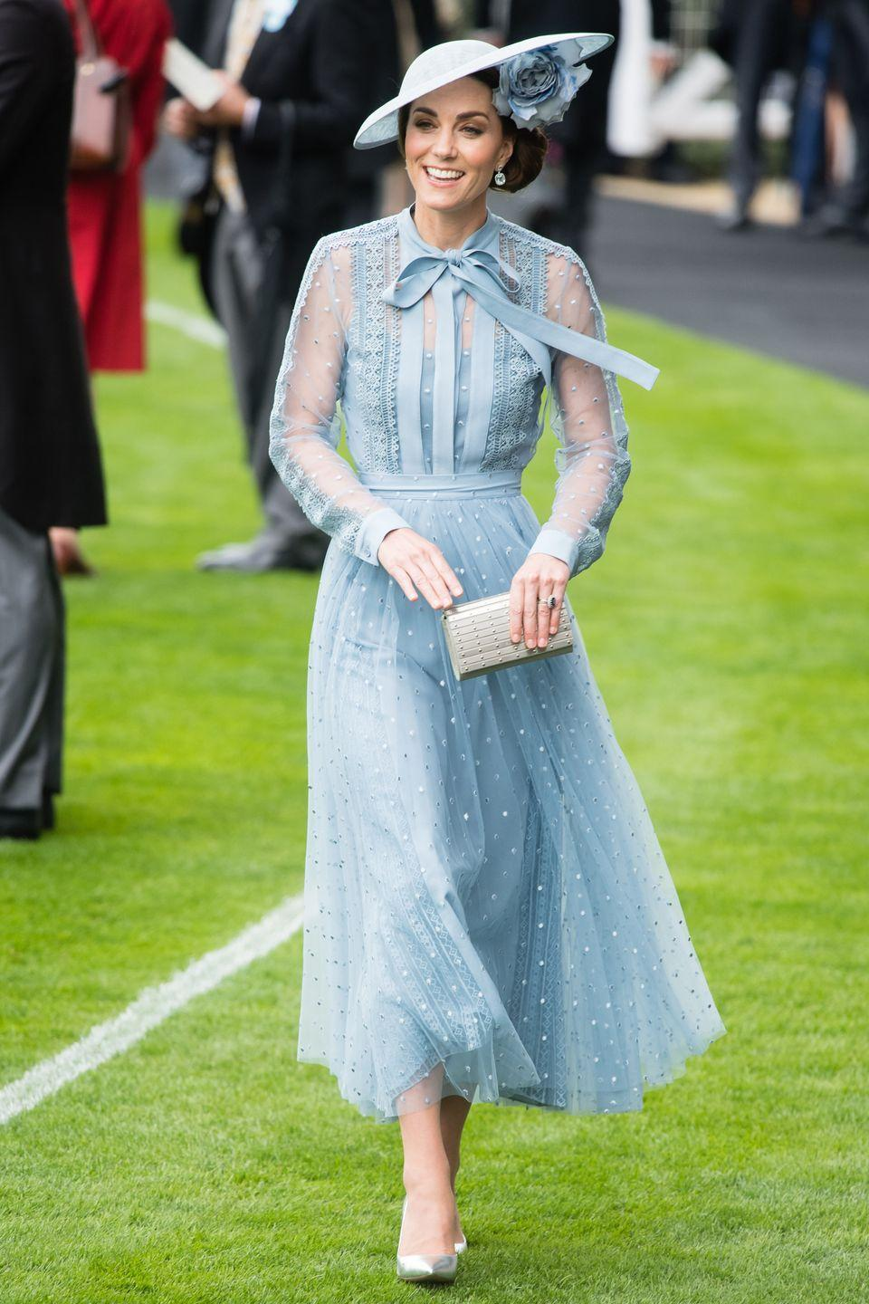 <p>Who: Catherine, Duchess of Cambridge</p><p>When: June 18, 2019</p><p>Wearing: Elie Saab, Philip Treacy hat, Gianvito Rossi heels</p><p>Why: Just three days before summer hit, Kate Middleton took one last jab at a classic springtime look. Take her outfit at the Royal Ascot as a final farewell to long-sleeved dresses that can't be worn in hotter weather. </p>