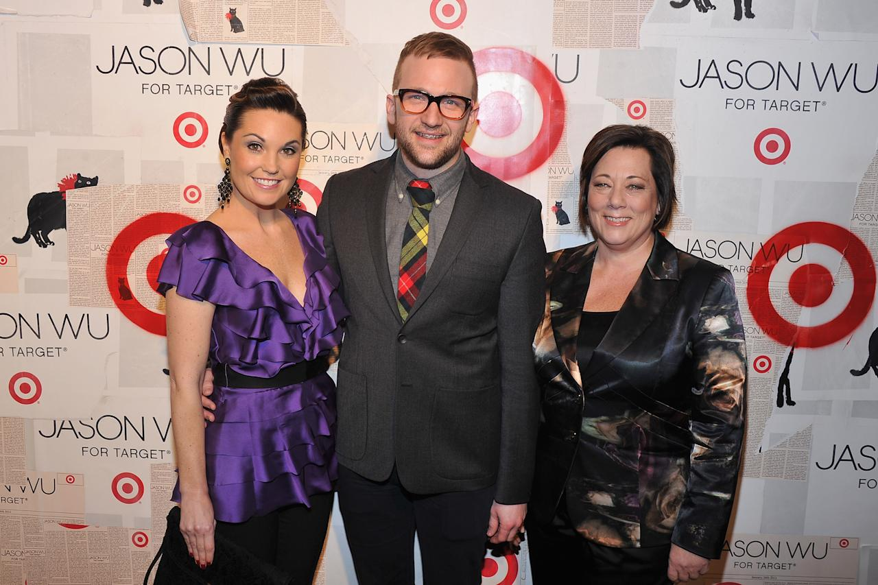 NEW YORK, NY - JANUARY 26:  Target Vice President of Communications Dustee Jenkins, Target Director of Fashion & Design Partnership Brian Robinson, and Target Senior Vice President of Apparel & Accessories Trish Adams attend Jason Wu For Target Private Launch Event at Skylight SOHO on January 26, 2012 in New York City.  (Photo by Theo Wargo/Getty Images for Target)