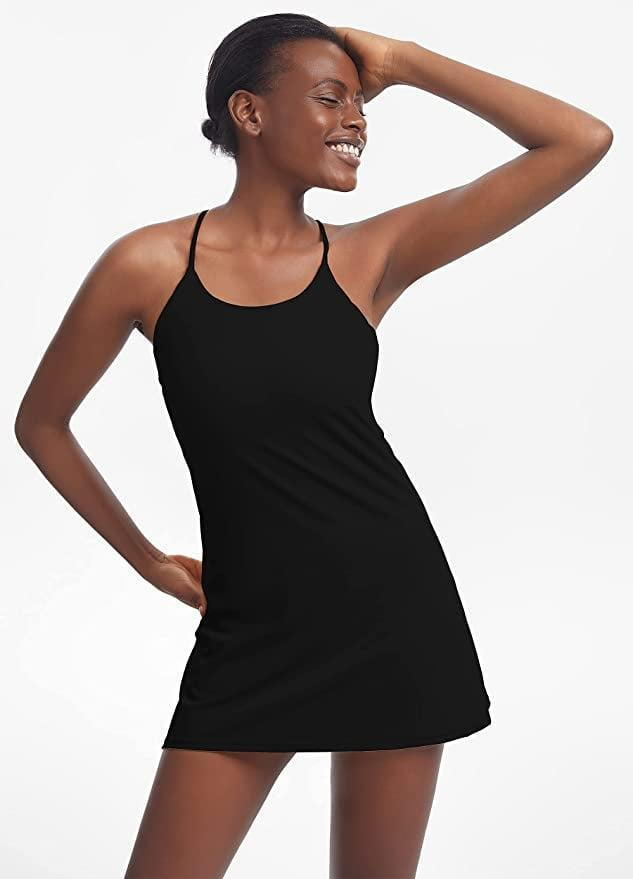 <p>I can't stress enough how badly everyone I know needs this <span>KuaCua Workout Dress</span> ($32) - it has shorts underneath! It's supportive, comfy, and cute; I wear mine with sneakers to run errands.</p>