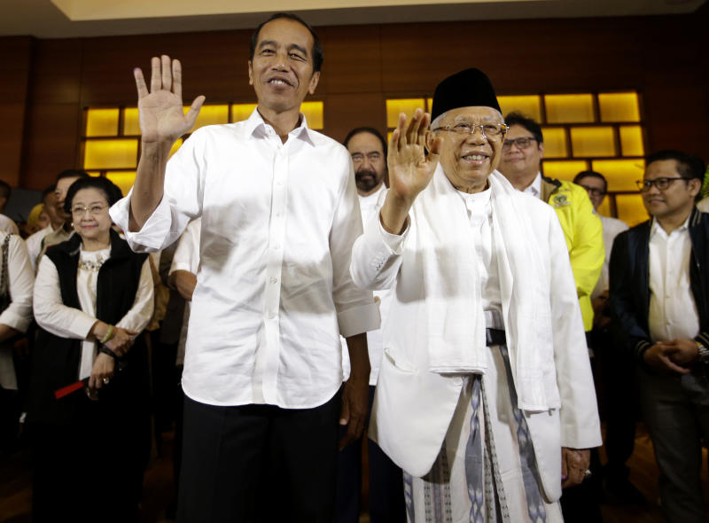 Indonesia President Joko Widodo declares victory in presidential race