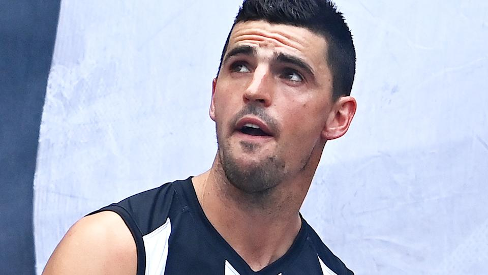Collingwood veteran Scott Pendlebury has said he would be open to changing clubs this off-season if a coaching agreement was part of the deal. (Photo by Quinn Rooney/Getty Images)