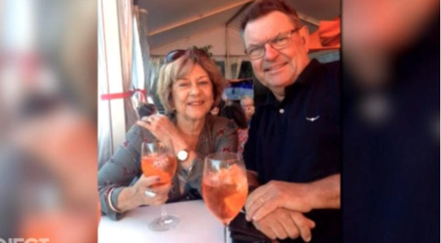 Steve Price with his mum and an aperol spritz