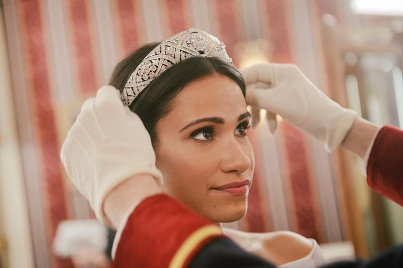 Tiffany Smith as Meghan Markle | Courtesy Lifetime