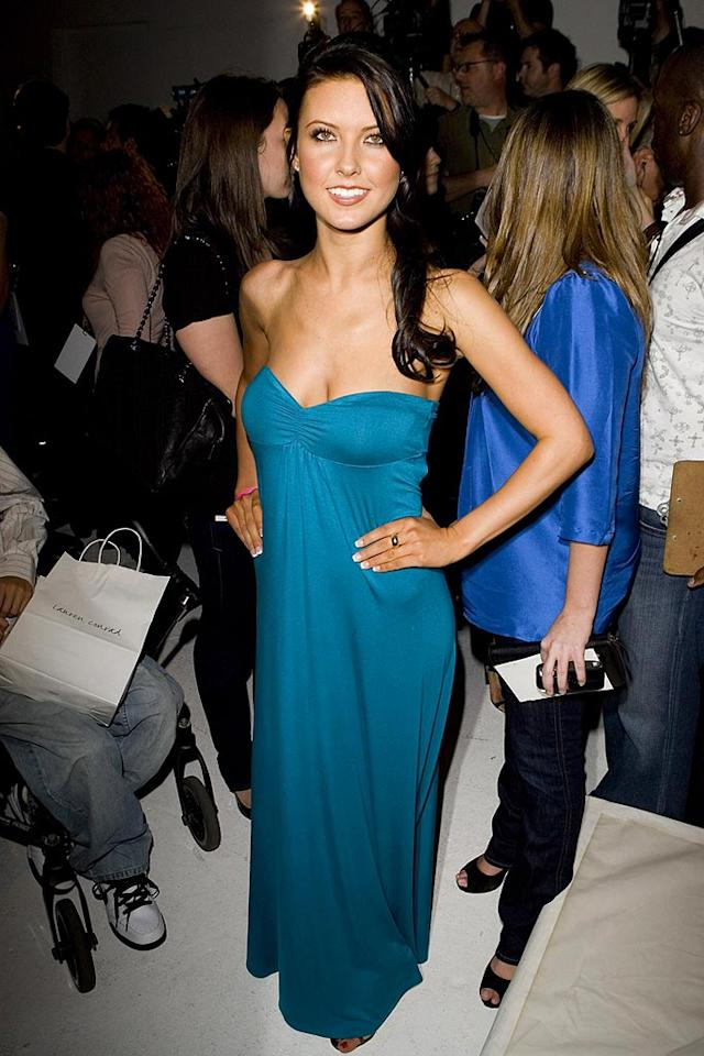 """Hills"" hottie Audrina Patridge left little to the imagination in this strapless dress worn to her buddy Lauren Conrad's first runway show. Chris Polk/<a href=""http://www.wireimage.com"" target=""new"">WireImage.com</a> - March 11, 2008"