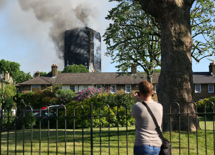 Firefighters have been battling through the night to tackle the blaze (PA)