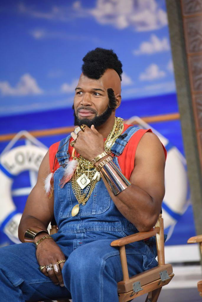 """<p>Michael made a pretty convincing Mr. T when he debuted this costume on the set of """"Good Morning America."""" </p>"""