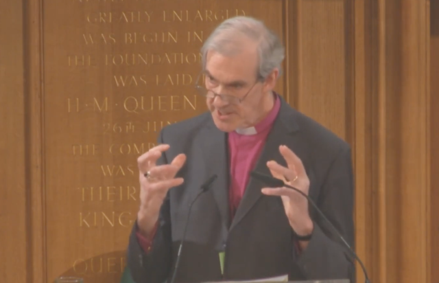 The Bishop of Carlisle said 'we are monitoring the situation very closely' (Church of England/YouTube)