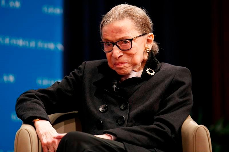 Ginsburg back on bench after stomach bug