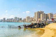 Ruins of hotels at Varosia district of Famagusta, Cyprus