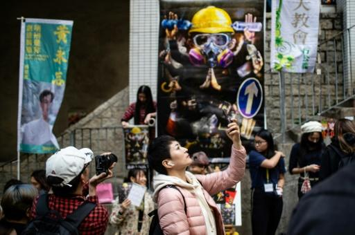 This year's Lunar New Year fairs in Hong Kong have taken on a political tone