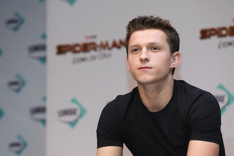 Tom Holland during the press conference to present the new movie 'Spider-Man: Far From Home' at Teatro Metropolitano on May 4, 2019 in Queretaro, Mexico. (PHOTO: Getty Images)