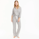 """<p>Is there anything more classic than a set of striped pajamas? And these are especially comfortable, thanks to their stretchy knit-cotton composition. You even have the option of adding a monogram for just $10 more, so everyone who sees you in this timeless loungewear knows it's yours. (In other words, <em>hands off!</em>)</p> <p><strong>Sizes available:</strong> XXS to 3X</p> <p><strong>$88</strong> (<a href=""""https://www.jcrew.com/p/womens_category/pajamas_intimates/pajamasets/dreamy-cotton-pajama-set-in-stripe/B7341"""" rel=""""nofollow noopener"""" target=""""_blank"""" data-ylk=""""slk:Shop Now"""" class=""""link rapid-noclick-resp"""">Shop Now</a>)</p>"""