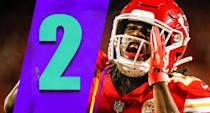 <p>Kareem Hunt had 141 total yards and three touchdowns in Sunday night's blowout win. When you consider the 2017 NFL rushing champ has been relatively overshadowed in this offense, I'm not sure how anyone can stop the Chiefs. (Kareem Hunt) </p>