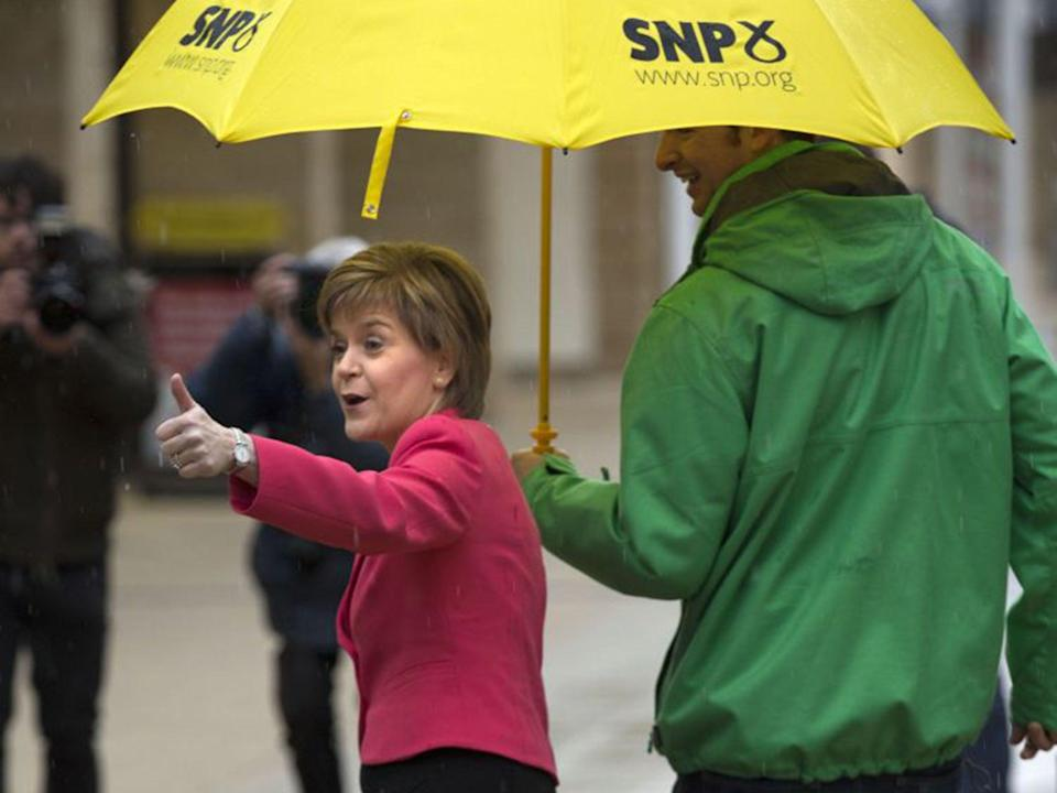 Nicola Sturgeon, first minister of Scotland, remains more popular than Boris Johnson