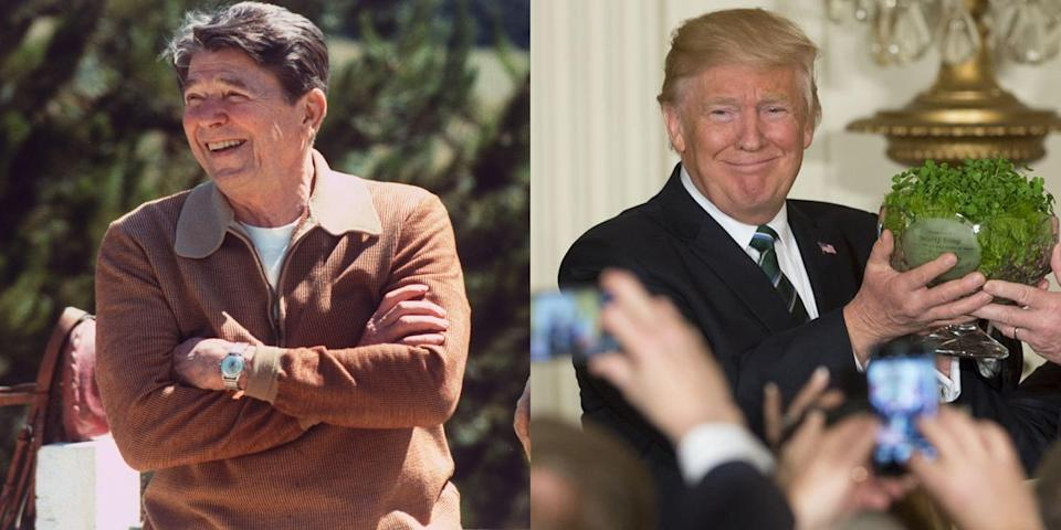 "<p>For decades, foreign leaders have showered <a href=""http://www.marieclaire.com/politics/g15158809/trump-family-white-house-gifts/"" rel=""nofollow noopener"" target=""_blank"" data-ylk=""slk:presidents with some of the most lavish and downright crazy gifts"" class=""link rapid-noclick-resp"">presidents with some of the most lavish and downright crazy gifts</a>—some being products from their own countries, others to show a sign of peace. In honor of President's Day, click through to see 30 gifts presidents have received while in office.</p>"