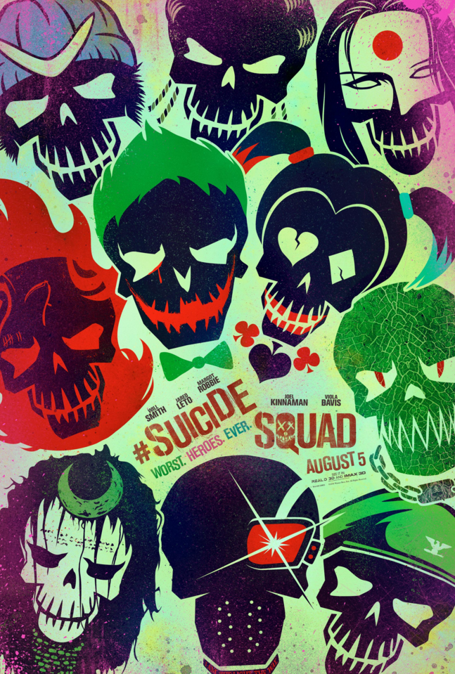 Deadpool and Suicide Squad honoured in list of 2016's best movie posters