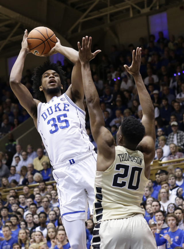 Bagley's lack of shooting range will be a factor for NBA teams during the pre-draft evaluation process. (AP)