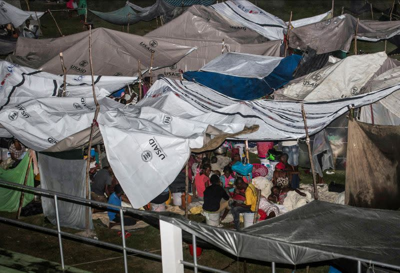 Tropical storm Grace passes through Haiti after 7.2 magnitude quake, in Les Cayes