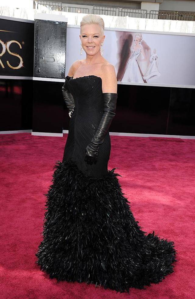 Tabatha Coffey arrives at the Oscars in Hollywood, California, on February 24, 2013.