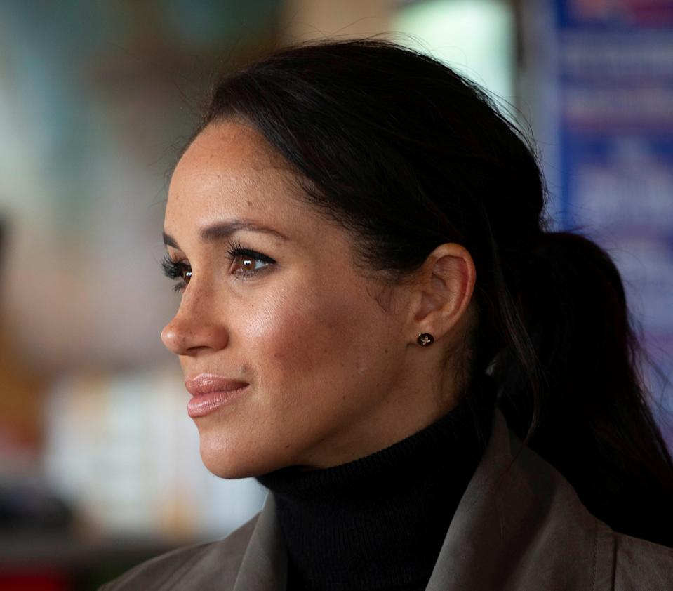 Prince Harry, The Duke of Sussex with Meghan Markle the Duchess of Sussex meet young people from a number of mental health projects operating in New Zealand, at the Maranui Cafe in Wellington, New Zealand October 29, 2018. Ian Vogler/Pool via REUTERS