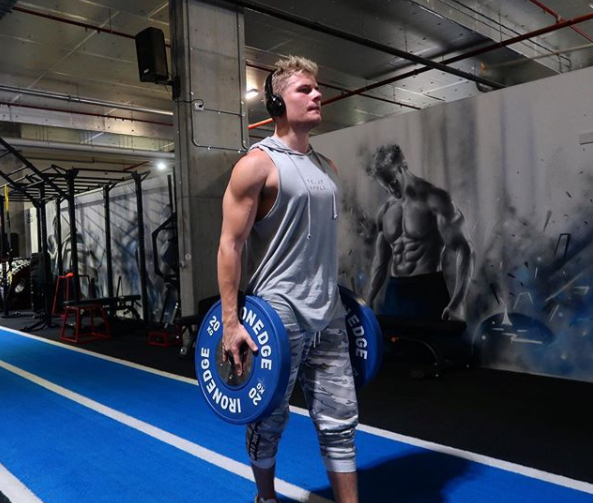 Jackson has been working out ahead of his rumoured appearance on SAS: Who Dares Wins. Photo: Instagram/jacksonwarne18.