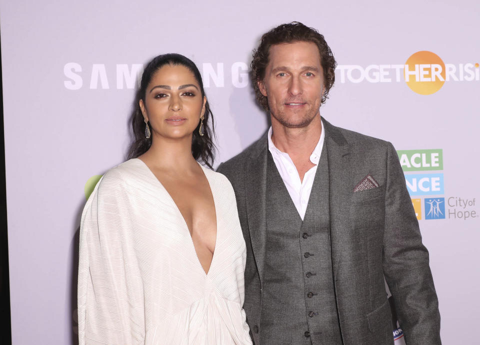 Photo by: John Nacion/STAR MAX/IPx 2018 9/27/18 Camila Alves and Matthew McConaughey at the 2018 Samusung Charity Gala in New York City.