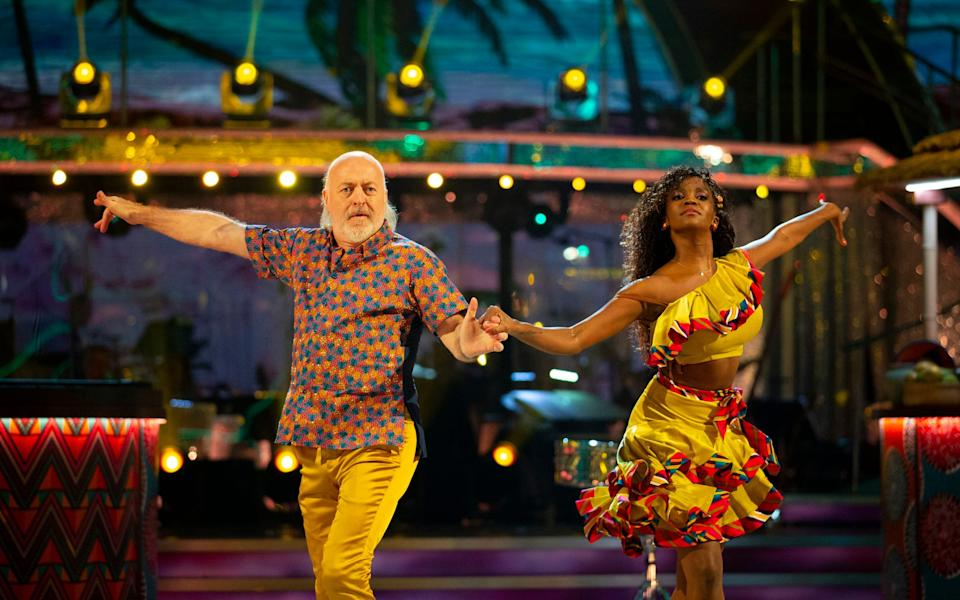'The other male celebs call me The Rocket': Bill and Oti performed a Cha Cha Cha at breakneck speed last Saturday