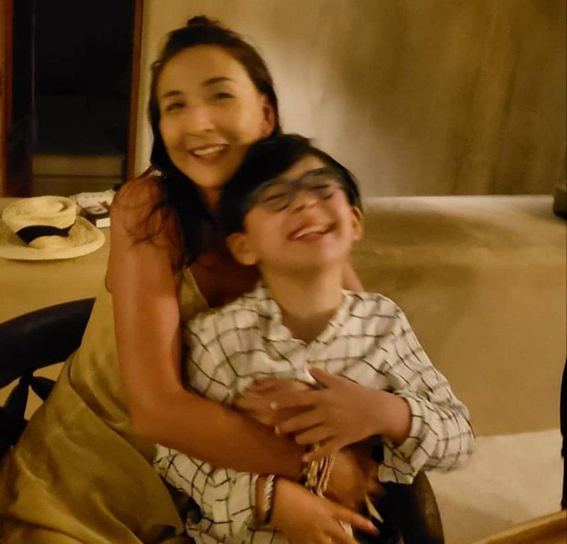 Elaine del Cerro Yau and Mateo. (Photo: )