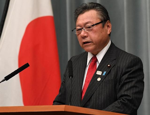 Yoshitaka Sakurada, 68, is the deputy chief of the government's cyber security strategy office and also the minister in charge of the Olympic and Paralympic Games that Tokyo will host in 2020 (AFP Photo/Toshifumi KITAMURA)