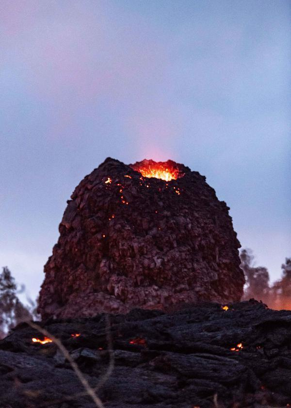 Lava can be seen at the top of the egg (Caters)