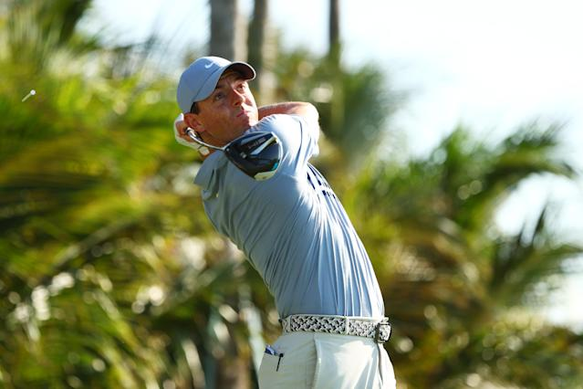 Rory McIlroy came up big when facing one shot for $1.1 million. (Photo by Mike Ehrmann/Getty Images)