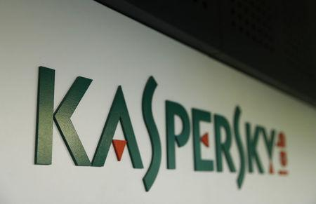 The logo of Russia's Kaspersky Lab is on displayat the company's office in Moscow, Russia October 27, 2017. REUTERS/Maxim Shemetov/Files