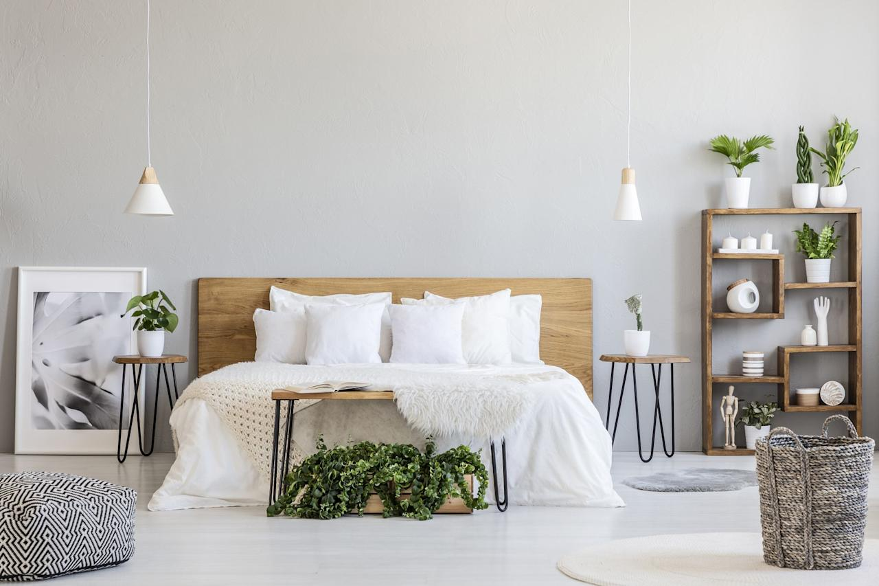 """<p>Dreaming up new <a href=""""https://www.countryliving.com/home-design/g1192/bedroom-designs-gallery/"""">bedroom decorating ideas</a>? A headboard can add major impact to a room's decor, no matter the size. In a large bedroom, a headboard can be used to emphasize and fill the space. In a <a href=""""https://www.countryliving.com/home-design/decorating-ideas/g27197552/small-bedroom-storage-ideas/"""">small bedroom</a>, it makes the sleeping area feel extra special without taking up valuable square footage. With a headboard, you also have many options. You can attach one to a bed frame, or mount it directly to the wall. As for design, there are a ton of headboard styles to choose from: midcentury modern, farmhouse, rustic, Moroccan, and more. Even better news? You can create your own one-of-a-kind headboard, whether you have carpentry skills or just like to dabble in simple craft projects. </p><p>Don't let the name scare you. Some DIY headboards aren't boards at all. Wall art, room dividers, fabric wall hangings, and even a wall decal can create the look of a headboard, with no carpentry skills required. Have we inspired you to DIY a headboard that'll make for an ultra-<a href=""""https://www.countryliving.com/home-design/decorating-ideas/advice/g1389/cozy-bedroom-ideas/"""">cozy bedroom</a> yet? Flip through our favorite DIY headboard ideas, check out the tutorials and choose the one that fits your bedroom (or <a href=""""https://www.countryliving.com/home-design/decorating-ideas/g678/guest-bedroom-decorating-1208/"""">guest bedroom</a>), your style and your skill level. There's something for everyone here. Sweet dreams!</p>"""