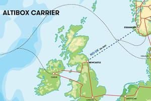 Map of NO-UK Cable System