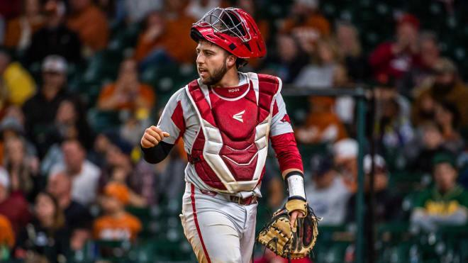 Opitz eyes 3rd trip to Omaha in unexpected return to Arkansas