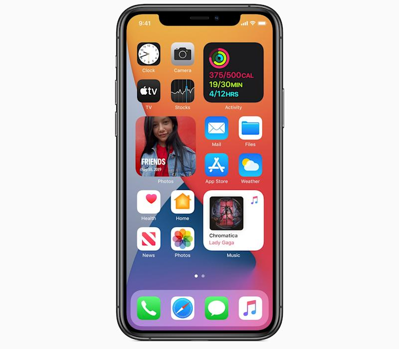 Apple is finally bringing widgets to the iPhone's home screen, adding a whole new layer of functionality to the smartphone. (Image: Apple)