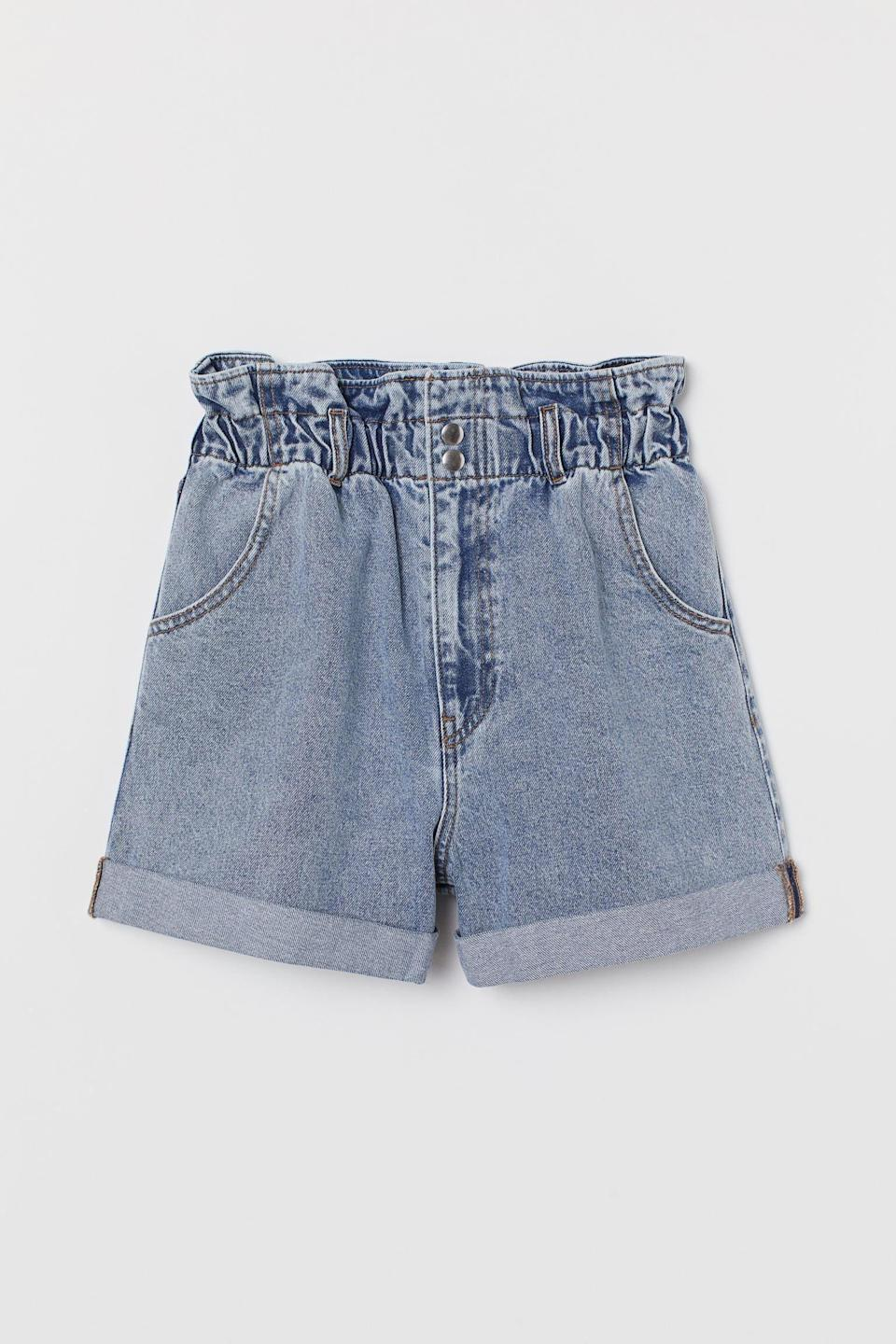<p>The waist on these <span>H&amp;M Denim Paper-bag Shorts</span> ($23, originally $30) will feel supportive.</p>