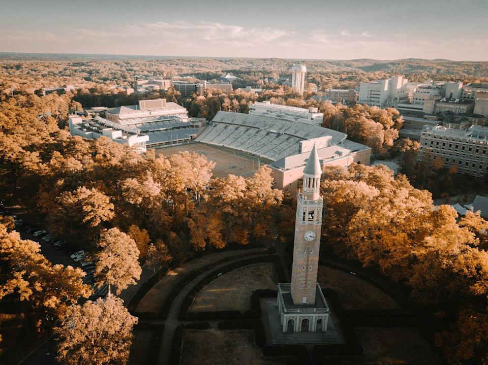 """<p><strong>Established in 1789 </strong></p><p><strong>Location: Chapel Hill, North Carolina<br></strong></p><p>The University of North Carolina at Chapel Hill didn't begin enrolling students until 1795, but it is still <a href=""""https://en.wikipedia.org/wiki/Oldest_public_university_in_the_United_States"""" rel=""""nofollow noopener"""" target=""""_blank"""" data-ylk=""""slk:one of the oldest public universities"""" class=""""link rapid-noclick-resp"""">one of the oldest public universities</a> in the U.S. Many future members of government attended the University, including a U.S. president and Vice President.</p>"""