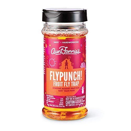 """<p><strong>Aunt Fannie's</strong></p><p>amazon.com</p><p><strong>$7.99</strong></p><p><a href=""""https://www.amazon.com/dp/B00WMZMHPW?tag=syn-yahoo-20&ascsubtag=%5Bartid%7C10055.g.29024275%5Bsrc%7Cyahoo-us"""" rel=""""nofollow noopener"""" target=""""_blank"""" data-ylk=""""slk:Shop Now"""" class=""""link rapid-noclick-resp"""">Shop Now</a></p><p><a href=""""https://www.goodhousekeeping.com/home/cleaning/tips/a25042/how-to-kill-fruit-flies/"""" rel=""""nofollow noopener"""" target=""""_blank"""" data-ylk=""""slk:Fruit flies won't stand a chance"""" class=""""link rapid-noclick-resp"""">Fruit flies won't stand a chance</a> against Aunt Fannie's fly trap. Unlike messy fly paper, you just pop the lid on this bottle and watch the flies disappear from your kitchen.</p>"""